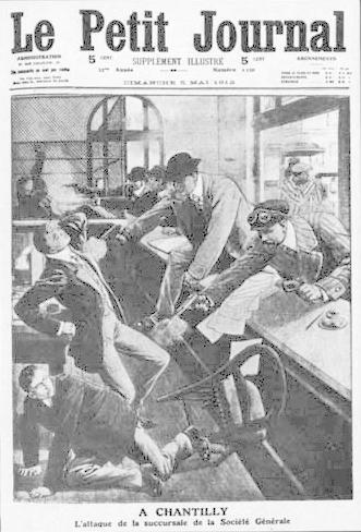 Обирът на бонковия клон на Сосиете Женерал, 1912г.